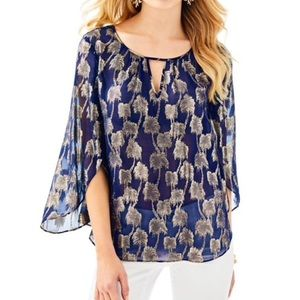NWT LILLY PULITZER beccer silk top